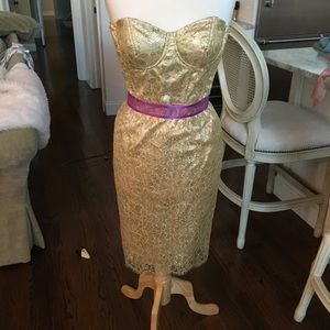 Milly of New York Gold Dress